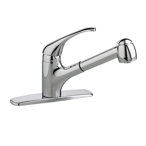 single kitchen faucet with pull out spray standard colony single handle pull out