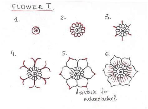 how to draw a beautiful and smooth mehndi flower. Small