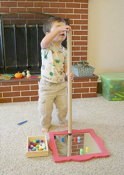 Toddler Activities Play With Pompoms, Cardboard Tube And A Mirror  Buggy And Buddy