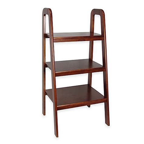 bed bath and beyond bookcase wayborn ladder style shelf bookcase bed bath beyond