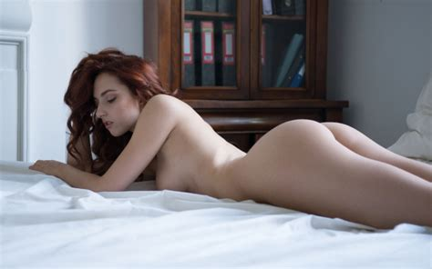 Photo Ass In Bed Naked Redhead Tits Hot Wallpaper