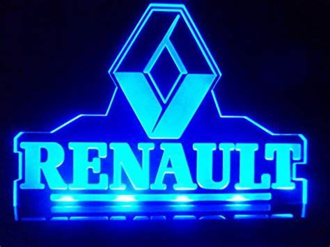 Renault Car Logo LED Lamp Night Light Man Cave Room Game