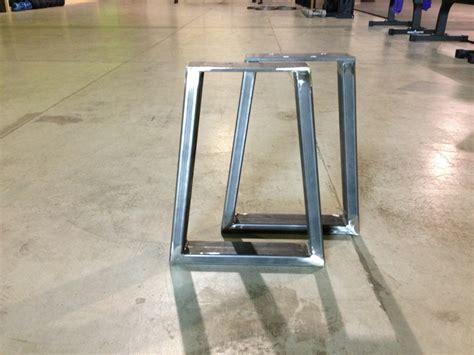 Unfinished Furniture Kitchen Island - steel bench supports modern legs