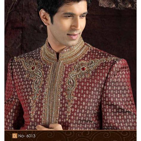 liste des ustensiles de cuisine sherwani tenue indienne de marié blanche brodée pour homme