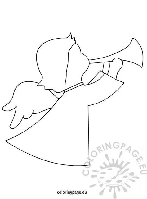 christmas angel shape coloring page