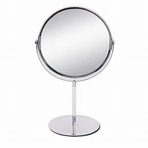 Petit Miroir Sur Pied : miroir sur pied grossissant x2 miroir de salle de bain meuble de salle de bain salle de ~ Teatrodelosmanantiales.com Idées de Décoration