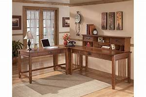 Cross island 48quot home office desk ashley furniture homestore for Ashley furniture home office collection