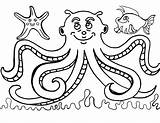 Octopus Coloring Pages Printable Fish Sheets Para Colorear Preschoolers Elegant Library Acuaticos Animales Getcolorings Popular sketch template