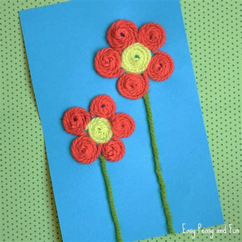 Yarn Flower Craft  Easy Peasy And Fun
