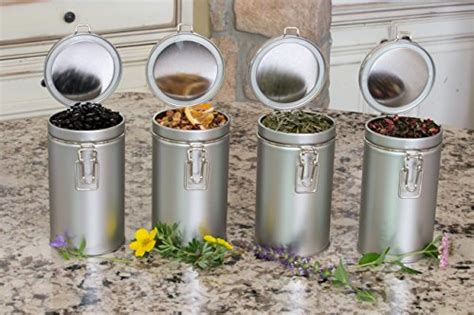 Airtight Spice Containers by Latching Tea Tin Tea Canister Airtight Tea Container