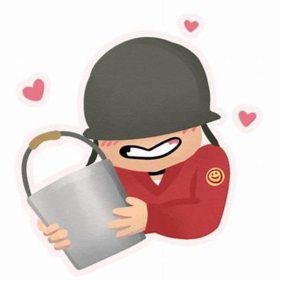Bucket Soldier Pyro Animated Sprays Engineer Tf2