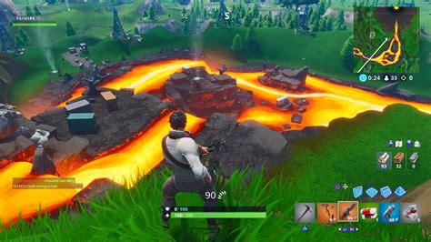 volcano  fortnite  started erupting