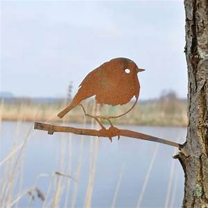 Metall Im Garten : morethanhip rotkehlchen metall vogel im garten ~ Lizthompson.info Haus und Dekorationen