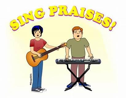 Clipart Singing Worship Praise Clip Christian Gospel