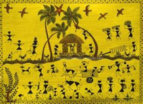 warli painting maharashtra folk art pinterest folk