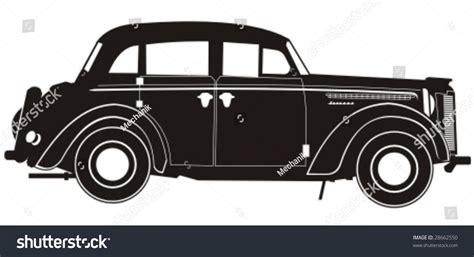 Vector Vintage Car Silhouette More Vector Stock Vector