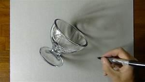 3D Art - Drawing of a Dessert Glass - YouTube