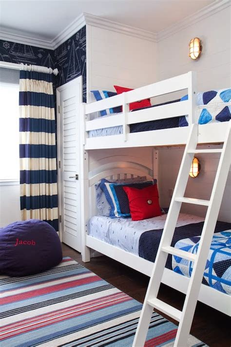 kids bedroom    show wallpaper  navy bunk