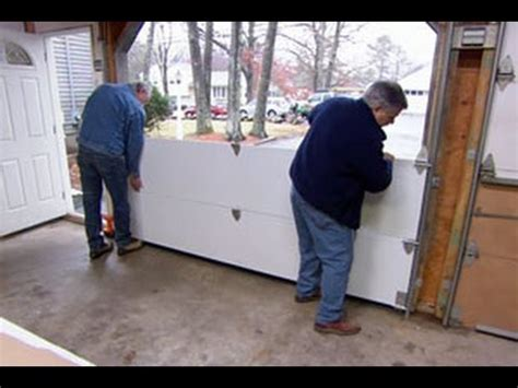 how to install garage door how to install a garage door this house