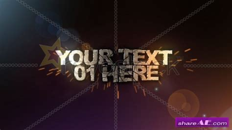 Free After Effects Text Templates by 3d Text Shatter After Effects Project Revostock 187 Free
