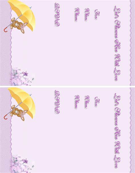 baby shower invitations  baby girl printable