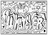 Coloring Graffiti Pages Printable Signs Draw sketch template