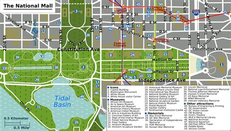 map  washington dc map  world dc trip pinterest
