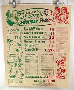 vintage grocery store poster 1940s sprat food stores