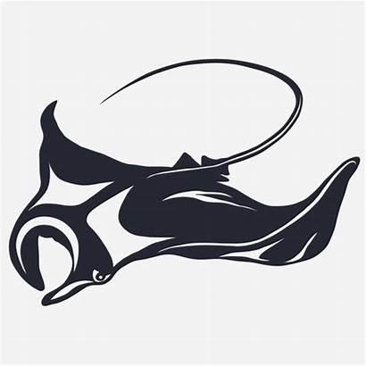 Stingray Vector Silhouette Sting Clip Hornet Cartoon
