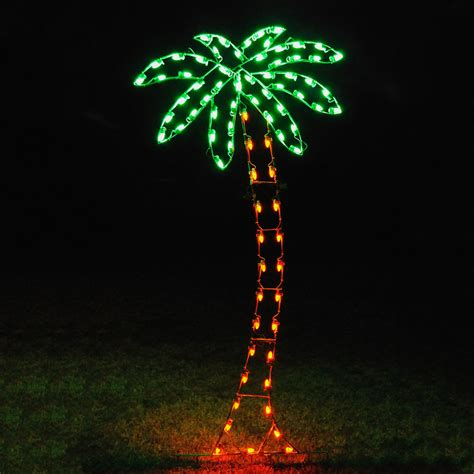 lighted christmas tree decoration shop holiday lighting specialists 8 83 ft palm tree