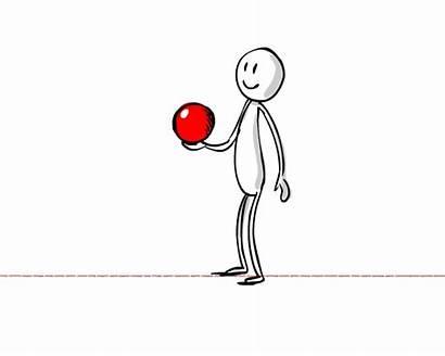 Throwing Ball Animate Character Throw Cartoon Animation