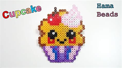 tutorial cupcake kawaii hama beads perler beads youtube