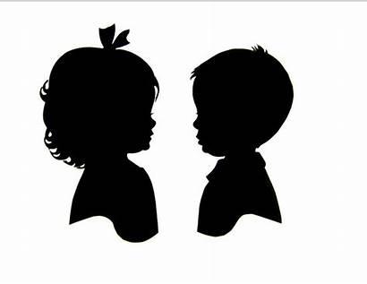 Silhouette Boy Clipart Head Silhouettes Boys Artist