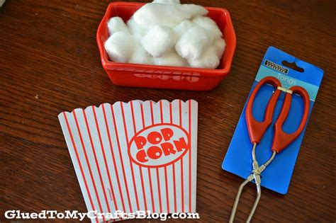 pick   popcorn fine motor game