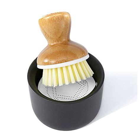 Full Circle Bubble Up Ceramic Soap Dispenser & Dish Brush