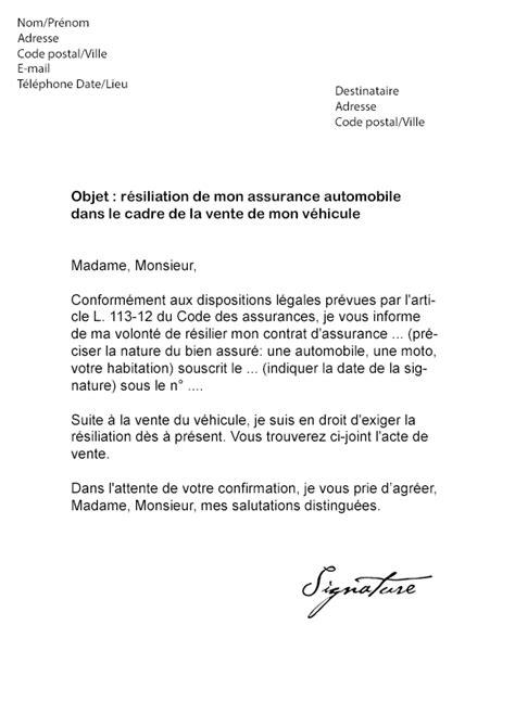 modele lettre resiliation sfr loi chatel lettre type pour r 233 silier un contrat modele resiliation