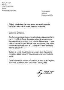 Arreter Une Assurance Voiture : lettre de r siliation direct assurance vente v hicule ~ Gottalentnigeria.com Avis de Voitures