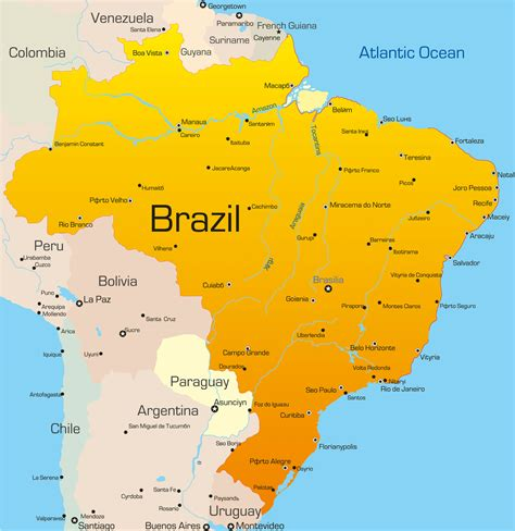 brazil country information map