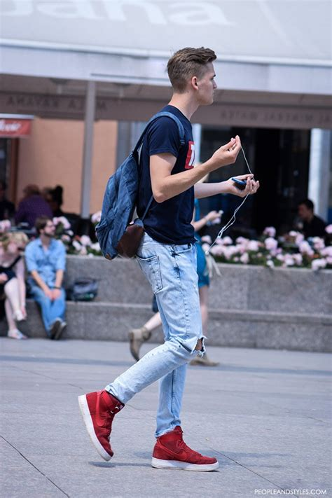 Street Fashion Outfits Men Wear With Sneakers u2013 Fashion Trends and Street Style - People u0026 Styles