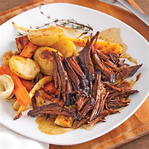 cuisine boeuf boeuf braisé au sirop d 39 érable et vinaigre balsamique