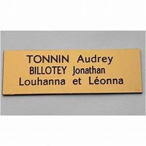 Plaque Pour Boite Aux Lettres : photos d 39 exemples de plaques de boite aux lettres tgl ~ Dailycaller-alerts.com Idées de Décoration