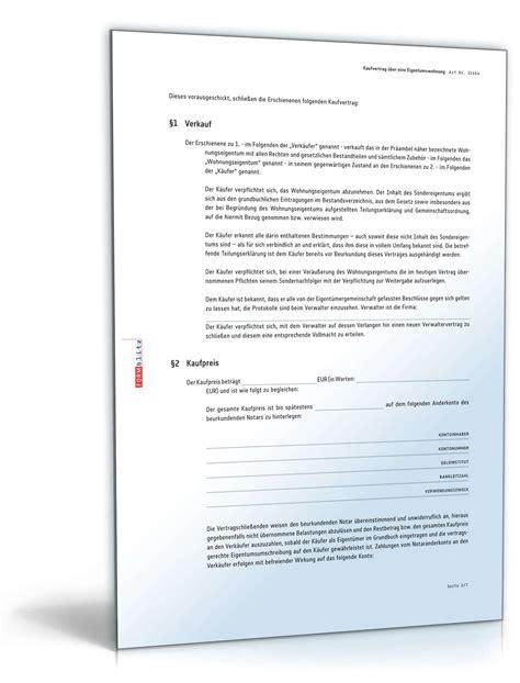muster kaufvertrag eigentumswohnung kaufvertrag eigentumswohnung muster zum