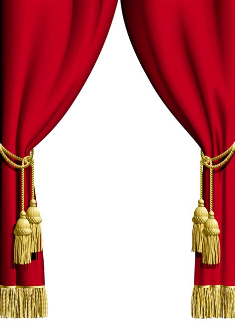 red curtain transparent frame gallery yopriceville