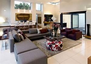 idee deco salon gris prune deco maison moderne With idee deco salon gris