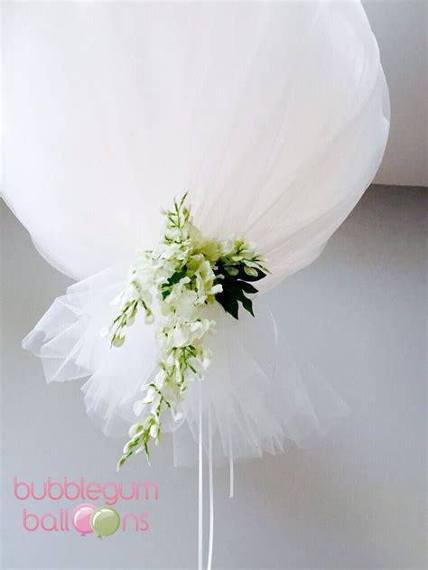 tulle balloon  wisteria beautiful  whimsical