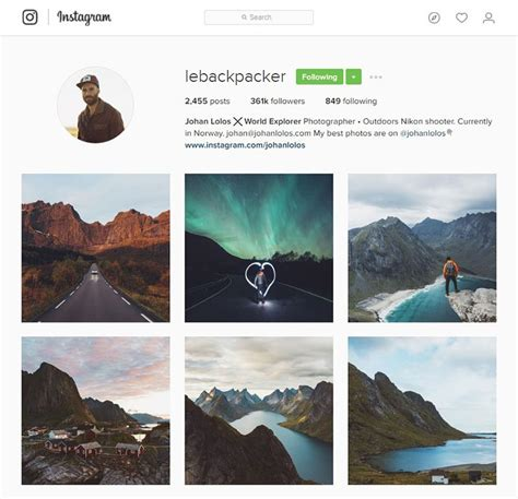 inspiring photographers  follow  instagram