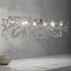 Lighting chandeliers contemporary : Modern geometric silver pendant light