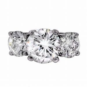 gia platinum 5 carat diamond three stone engagement ring With three stone wedding rings