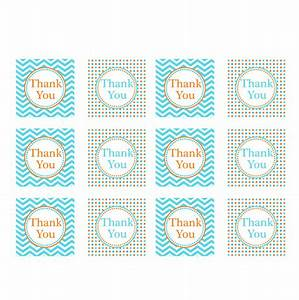 orange blue printable thank you tags With free printable thank you tags template