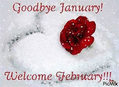 February Hello January Goodbye Welcome Quotes Snow